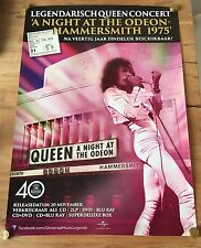 QUEEN -ORIGINAL DUTCH PROMO POSTER -A NIGHT AT THE ODEON- HAMMERSMITH '75 LP BOX
