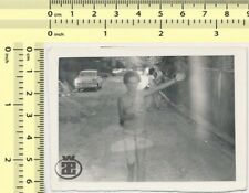#003 Film Error Car Woman on Street Scene Abstract vintage old original photo