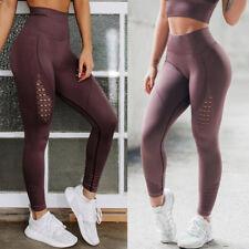 Women High Waist Yoga Leggings Pants Seamless Sports Fitness Workout Trousers G6
