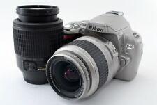 Nikon D40 6.1MP 18-55/55-200mm Lens Set Silver [Exc+++] w/8GB SD,Strap [768]