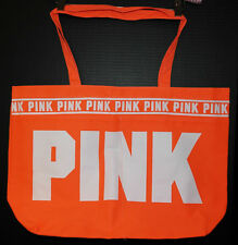 Victoria's Secret PINK Shopper / Tote / Beach Bag *New w/o Tag* Orange Logo