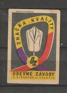 Poland Poster Stamp Reklamemarke Seal Znacka Kvwlity Odevne Zavody