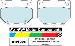 BRAKE PADS DB1220 TO SUIT Subaru IMPREZA,Nissan 300 ZX,SKYLINE 1989-2008