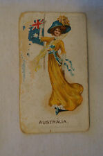 Vintage 1900's - Wills Vice Regal - Flag Girls of All Nations Card - Australia