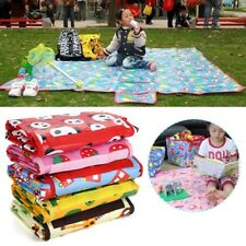 Kids Baby Extra Large Waterproof Beach Outdoor Picnic Play Rug Mat Blanket ^