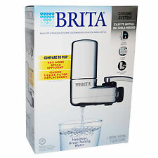 BRITA On Tap Faucet WATER FILTRATION SYSTEM Chrome FILTER Indicator HIGH QUALITY