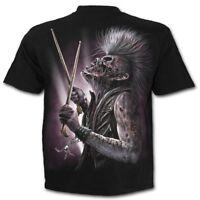 SPIRAL DIRECT ZOMBIE BACKBEAT T-Shirt/Drums/Music/Rock/Biker/Metal/Horror/Tattoo