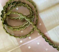 Antique Silk Braid Gimp Trim Green Dainty Dolls Costume Tiny Doll Trims 19""