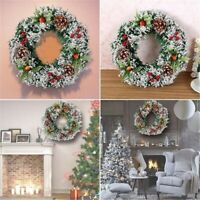 Hanging Christmas Wreath Decor For Xmas Home Party Door Wall Garland Ornament SO
