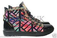 Hot Women's high top rainbow trainers sports casual sneakers shoes UK Size 3-8