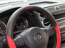 Non Slip Sport Design Steering Wheel Cover Good Fit ( Black Red )