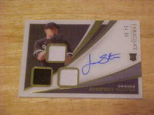 Jonathan Stiever 2021 Panini Immaculate 3X RELIC ON CARD AUTO Rookie 54/99 W.Sox