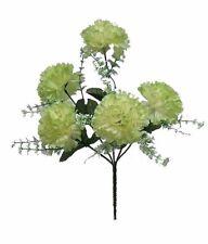 5 Carnations Sage Green Wedding Bouquet Centerpieces Silk Flowers Decoration
