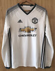 MANCHESTER UNITED ADIDAS AWAY FOOTBALL SHIRT L/S AGE 13-14 YEARS