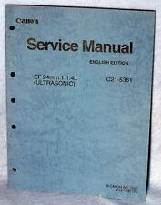 Canon Lens Service Manual EF 24mm 1:1.4L C21-5361 (1997) Ultrasonic CY8-1200-169