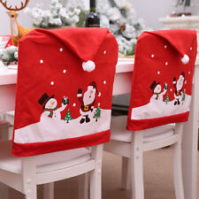 Kitchen Santa Claus Cap Home Decoration  Christmas Chair Cover Dinner Table
