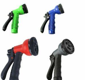 50FT Black Expandable Garden Hose Flexible Pipe Expanding Spray Gun Heavy Duty