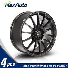 4 X 18X8 Wheels 45mm Offset 5x100/5x114.3 Matt Black Rims 18 Inch New