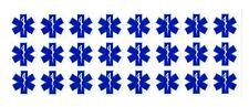 """EMT Star of Life Stickers- 1"""" dia. bulk EMS Rescue Nurse Decal"""