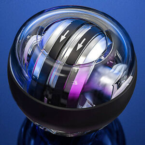 LED Gyroscopic Power Ball Fitness Arm Hand Muscle Force Trainer With Counter