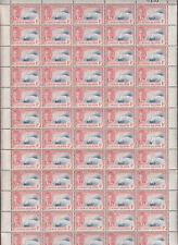 Cayman Islands 1950 KGVI ¼d Bright Bl + Pale Scarlet Full Sheet of 60 Mint SG135