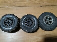 4Pcs 1:10 Short Course Truck Tire BeadLocK Wheel 12mm Hex F Traxxas Slash Rc Car
