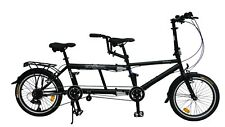 "Ecosmo 20"" Wheel New Folding Steel Tandem Bicycle Bike 7 Speeds - 20TF01BL"