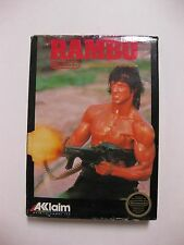 NINTENDO NES Rambo Complete w/ box & instructions GREAT CONDITION
