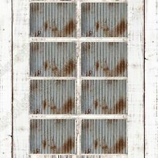 SET OF 8 PLACEMATS, RUSTY CORRUGATED IRON PATTERN