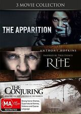 The Apparition + The Rite + The Conjuring   DVD   Region 4   Triple Movie Pack