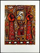 """DDR. """"na dann"""", 1989. Grosse Zinkographie Ulrich TARLATT (*1952 D) handsigniert"""