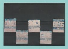 STAMPS - BRITISH -  5  EMBOSSED  REVENUE  STAMPS  -  QUEEN  VICTORIA   (A)