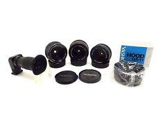 3x Lens Contax Yashica ML 2,8/28 DSB 1,9/50 ML 1,9/50 + Winkelsucher, Hood wt091