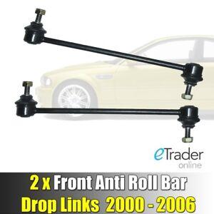 BMW 3 SERIES E46 FRONT DROP LINKS STABILISER ANTI ROLL BAR LINK x2 2000-2006 NEW