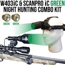 Wicked Lights W403iC & ScanPro iC GREEN Night Hunting Light & Headlamp ComboKit