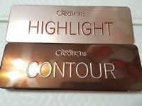 2 PACK BEAUTY CREATIONS CONTOUR AND HIGHLIGHT 5 SHADES EACH W. BRUSH ORIGINAL