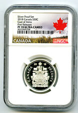 2018 CANADA 50 CENT .9999 SILVER PROOF HALF DOLLAR NGC PF70 UCAM FIRST RELEASES