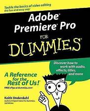 Adobe Premiere Pro For Dummies, Acceptable, Underdahl, Keith, Book