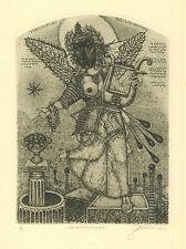 """Exlibris Erotic ex libris """"Terpsichore"""" by DENISENKO OLEG /Ukr"""