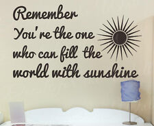Remember Youre The One Sunshine Snow White Wall Decal Vinyl Kids Sticker Art Q21