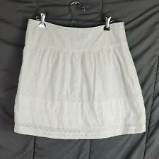 Banana Republic Womens Size 4 White Lined Mini Skirt