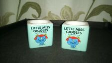 Pre-Owned Pair Of 'Little Miss Giggles' Egg Cups (Unboxed) - Good Condition