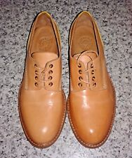 BUTTERO B4840 Leather Limited Edition Tan/Yellow Lace Up Shoes >UK 4 /EU 36
