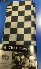 CHAUD DEVANT 6 Chef Towels -Asciugamani 65X65 100% Cotone-6 Pezzi
