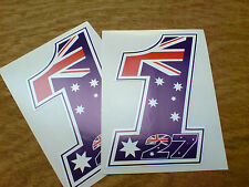 CASEY STONER 27 No. 1  Motorcycle Fairing Stickers 2 off 120mm