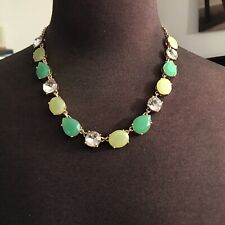 Green And White Stones JCrew necklace