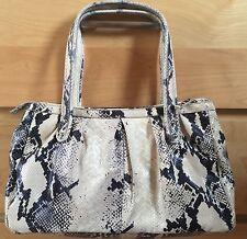 Calvin Klein Women's Snake Print Embossed Leather Handbag Shoulder Bag Purse