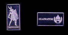★★★ JOLIE MEDAILLE EN PLAQUE ARGENT ● GLADIATEUR / GLADIATOR ● PROVOCATOR ★★
