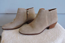 Women's Sam Edelman Petty Ankle Boots Beige Putty Suede Size 8.5