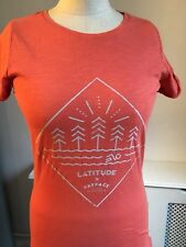 FAT FACE Coral LATITUDE Festival Music Suffolk Boho Slogan T-Shirt UK 6 BNWT